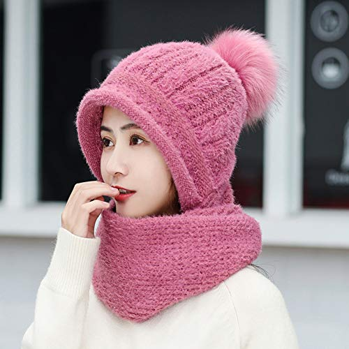 MZWJ Dames Hoeden, Dikke Warme Hoed Suits voor Herfst en Winter, Koude Winter Gebreide Wollen Hoeden, Sjaal Suits