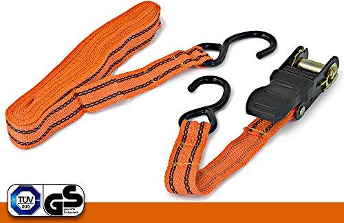 ASIS nettrade spanband spanband sjorband met ratel - tweedelig - 4,5 m x 25 mm - houdt stabiel en veilig 4 Stück