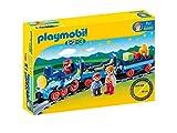 Playmobil–1.2.3Train avec Voies Multicolore (6880)