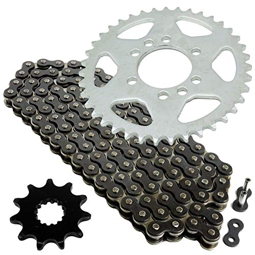 Caltric Black Drive Chain And Sprockets Kit Compatible with Suzuki Lt160 Quadrunner 160 1989-1992