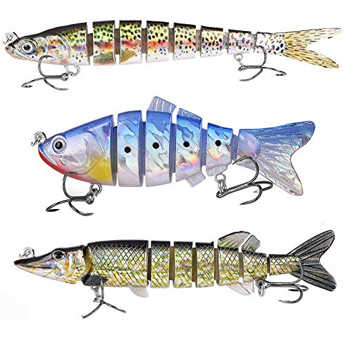 Fishing Lures,VNiXi Multi Jointed Bionic Swimbait Swimming Lures for...