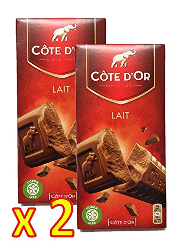 Cote d'Or Belgian Milk Chocolate Bar XL 7.05 ounce (200 gram) - Pack 2 x 200g
