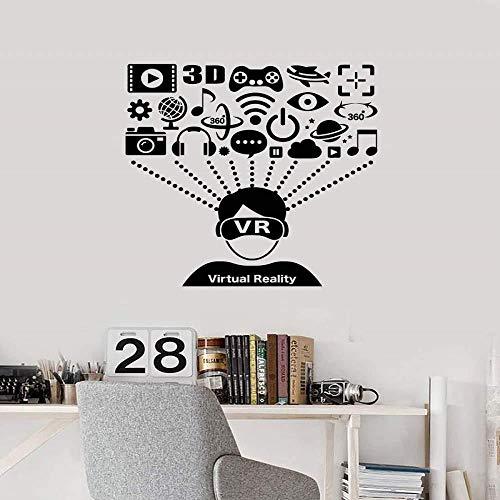 Apple Wall Virtual Reality Brille Headset Mitglied Musik Player Fan Spiel Teen Boy Schlafzimmer Home Decor 57X58Cm
