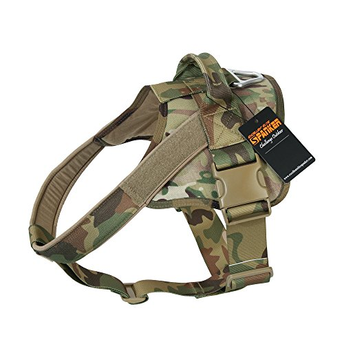 EXCELLENT ELITE SPANKER Tactical Dog Harness Patrol K9 Harness Service Dog Vest Military Dog Vest Working Dog Vest with Handle(MCP-L)