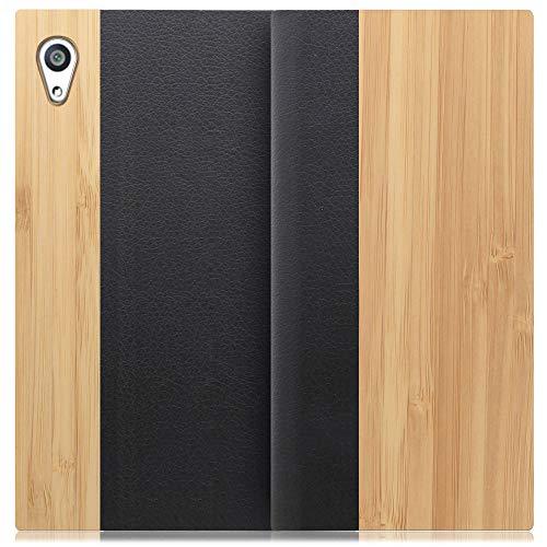 LOOF Nature Xperia Z5 Premium / SO-03H ケース 手帳型 カバー 天然木 本革 ウッド 手帳型ケース 手帳型カバー 携帯ケース 携帯カバー スマホケース スマホカバー ベルト無し 木製 スタンド機能付き カード収納 カー