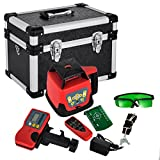 FORAVER Rotary Laser Level Green Beam Self Leveling Measuring Automatic Rotating Laser Level