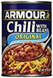 Armour Star Chili with Beans, Canned Food, 12 - 14 OZ Cans