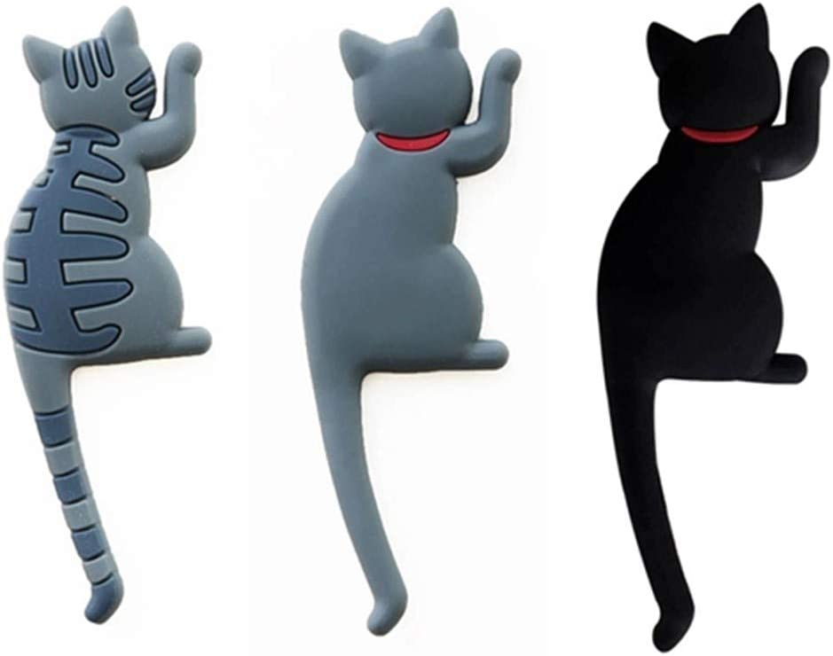 Max 66% OFF Cute 3D Fun Cat Refrigerator Magnets with Dec 100% quality warranty Hook Tail Kitchen