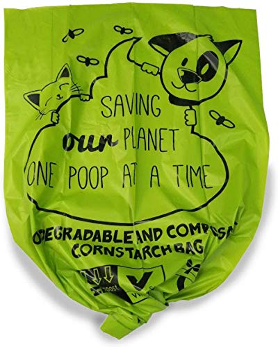 ZPAW Compostable and Biodegradable Dog Poop Bags Made with Corn Starch | Large Environmentally Friendly Dog Waste Bags Certified 100% Compostable and Biodegradable (160 Pet Waste Bags) 3