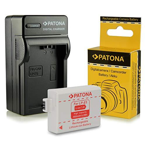 Caricabatteria + Batteria LP-E5 per Canon EOS 1000D   EOS 450D   EOS 500D   EOS Rebel T1i   EOS Rebel XS   EOS Rebel Xsi