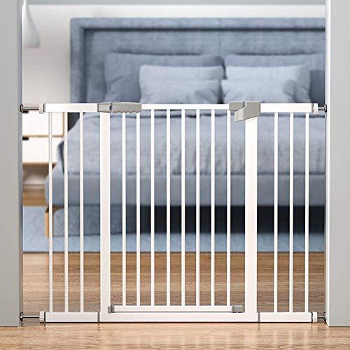 HYRGLIZI Extra hohes druckgeeignetes Haustier-Sicherheitstor  Baby Dog Pet Stair Gate  103cm extra groß  Einzigartige 90 Grad;Zweiwege-Tür öffnen/bleiben, automatische Schließfunktion (Farbe: W