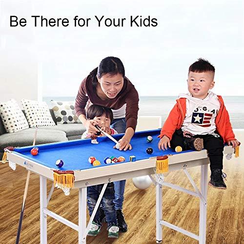 Billar Plegable Mesa de Billar Mesa de Ahorro de Espacio for niños ...