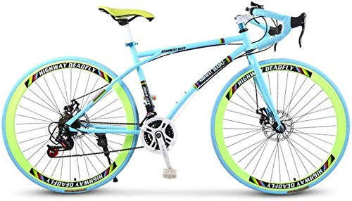 Road Bicycles, 24-Speed 26 Inch Bikes, Double Disc Brake, High Carbon Steel Frame, Road Bicycle Racing, Men's And Women Adult-Only