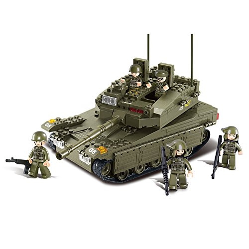 Sluban Merkava Tank 344 Pieces Building Blocks Set