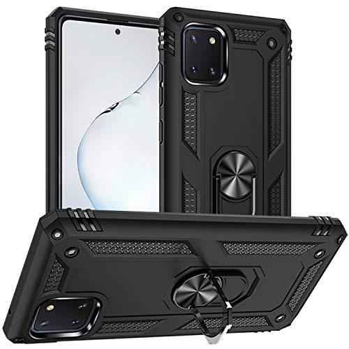 DAWEIXEAU für Galaxy Note 10 lite Hülle,Galaxy A81 Handyhülle Hybrid Harte Rüstung Drop Resistance Handys Schutzhülle für Samsung Galaxy Note 10 lite/M60S/A81 (Schwarz)