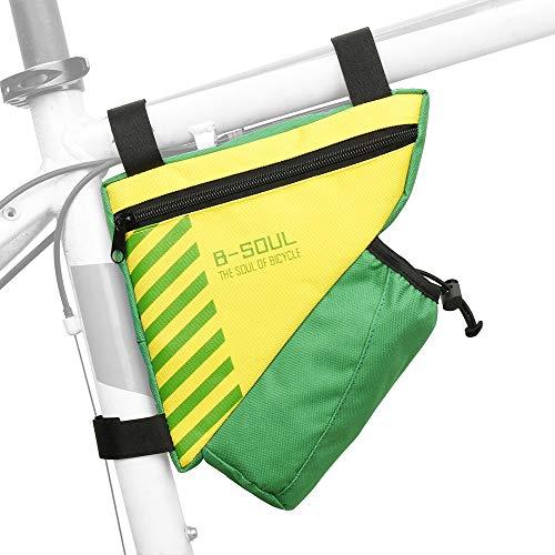 Lixada Bolsa Triángulo Bicicleta con Bolsillo para Botella de Agua Bolsa de Tubo Superior de Cuadro para MTB Bicicleta