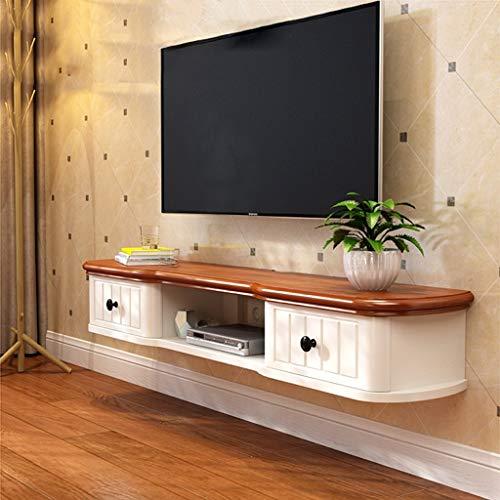 Étagère flottante Meuble de télévision mural Avec tiroir Étagère murale Set top box routeur lecteur de DVD Machine de jeu jouet Photo étagère de rangement console TV Meuble TV (Color : 142cm)
