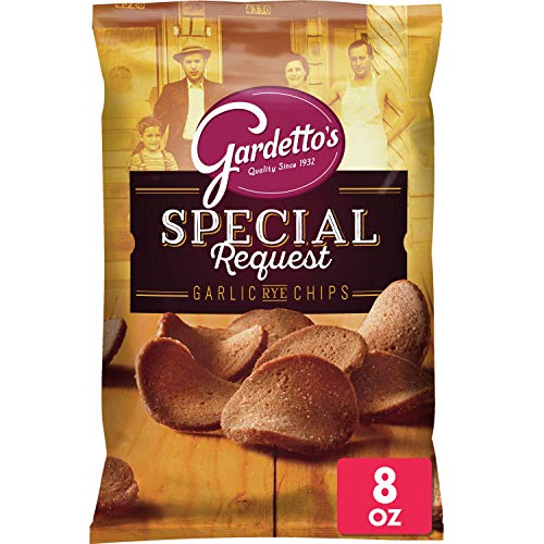 Gardetto's Roasted Garlic Rye Chips 8 oz Bags (Pack of 12)