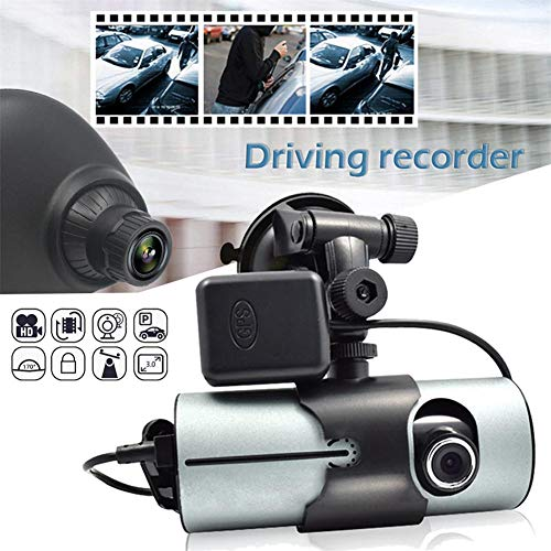 """ATpart Dashcam Auto-Kamera R300 Doppellinse Dash Cam 2,7\""""Full HD-Kamera mit DVR-Kamera und GPS-Logger"""