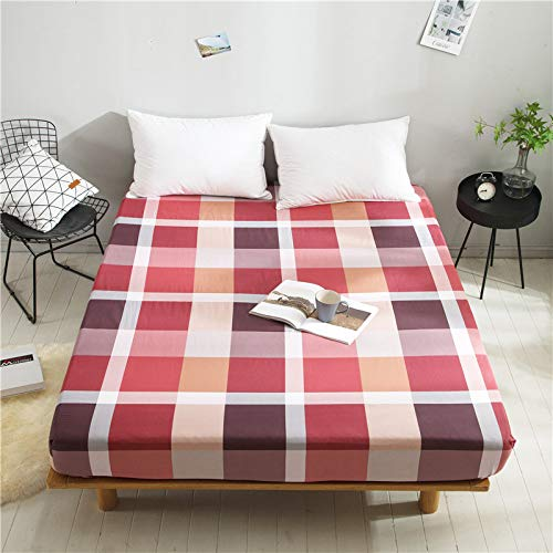 huyiming Verwendet für Bettwäsche Baumwolle Plaid einfarbig Matratzenschoner 1,8 m 150 * 200