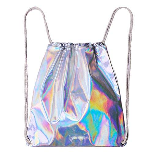 LUOEM Holographic Tasche/Sackpack/Rucksack Laser Hologramm Tasche für Frauen Mädchen