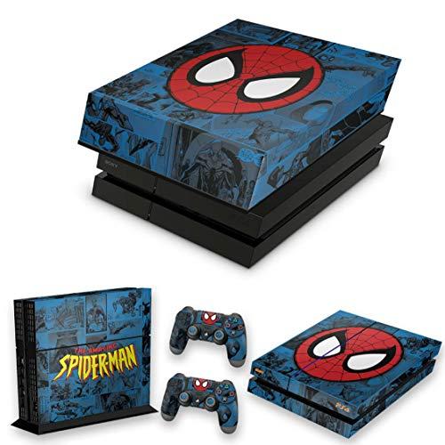 Capa Anti Poeira e Skin para PS4 Fat - Homem-Aranha Spider-Man Comics