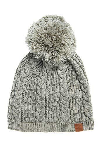 Superdry Oatmeal - Gorro de nieve gris Talla única