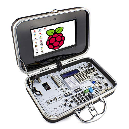 ELECROW CrowPi Raspberry Pi 4 3b 3b+ Sensor Kit for Learning Programming (Basic Kit, RPI Not Included, Black)