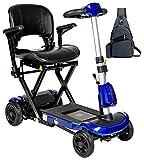 Drive ZooMe Auto-Flex Folding Travel Scooter, Blue & Free Medical Utility Navy Blue Bag! - #Flex-AUTO