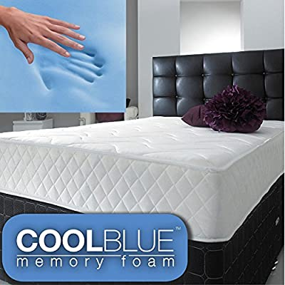 jumpi Cool Blue Memory Foam Spring Mattress - 4FT6 Double