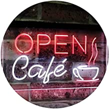 Café Open Coffee Kitchen Decoration Bar Beer Dual Color LED Neon Sign White & Red 400 x 300mm st6s43-i2011-wr