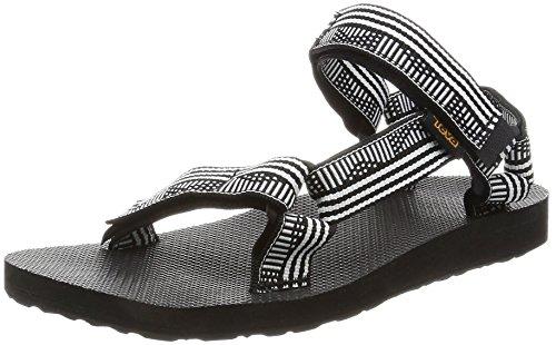 Teva Women's Footwear Outdoor Original Universal Sandal, WHI, 6 Medium, Campo Black/White, 6 M US