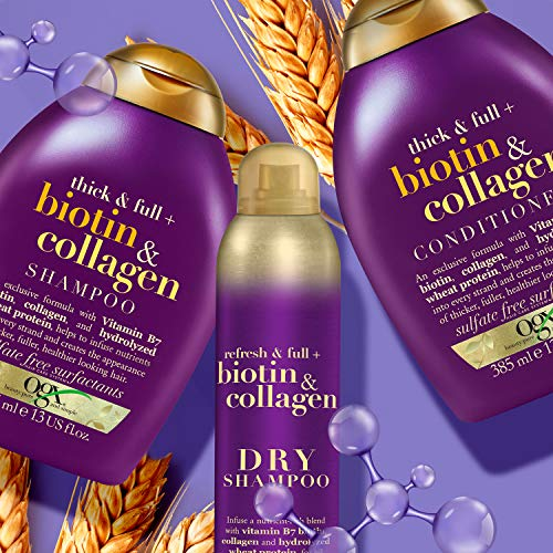 OGX Thick and Full Biotin and Collagen Volumising Thickening Shampoo 385 ml Sulfate Free Surfactants