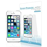 amFilm iPhone SE Screen Protector, Screen Protector for iPhone SE, 5, 5S, 5C Premium HD Clear (Invisible) (3-Pack) (Not Compatible with 2020 Version of iPhone SE)