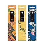 Tierra Zen Set KOH Do Shiraume (Ciruelo, Sakura (Cerezo), Sándalo Blanco Incienso, Talla Única