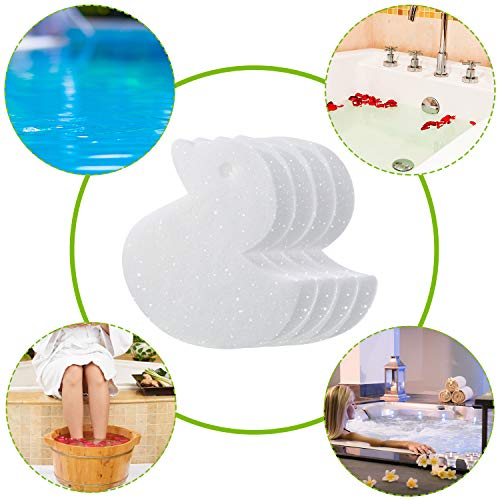 Boao 16 Pieces Creamy Oil Absorbing Scum Sponge for Hot Tub Swimming Pool and Spa (Duck-Shaped)