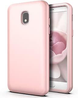QQcase Galaxy J7 2018 Case,Galaxy J7 Crown,Galaxy J7 Star,Galaxy J7 Refine,J7 Aero/J7 V 2nd Gen /J7 Aura Case Three Layer Slim Sturdy Shockproof Case for Samsung Galaxy J7 2018,Rose Gold