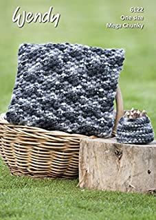 Wendy Home Cushions Attitude Knitting Pattern 6122 Super Chunky