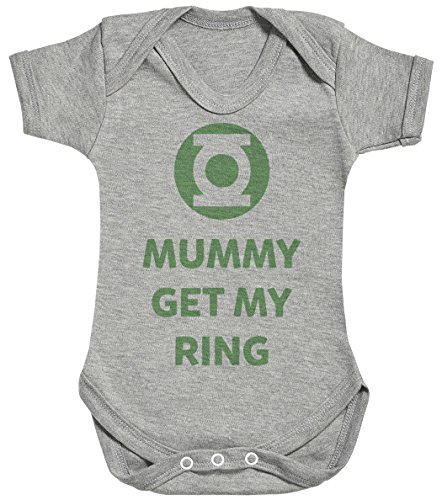 Baby Buddha Mummy Get My Ring Body bébé - Gilet bébé - Body bébé Ensemble-Cadeau - Naissance Gris