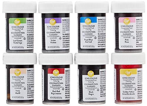 Wilton - Kit 8 pots de colorants pour glaçage - 226 g