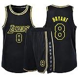 HJX888 Ropa De Baloncesto De La NBA Masculinos del Juego,Kobe Bryant Camiseta con Número 24,23,8 Lakers,8b,S