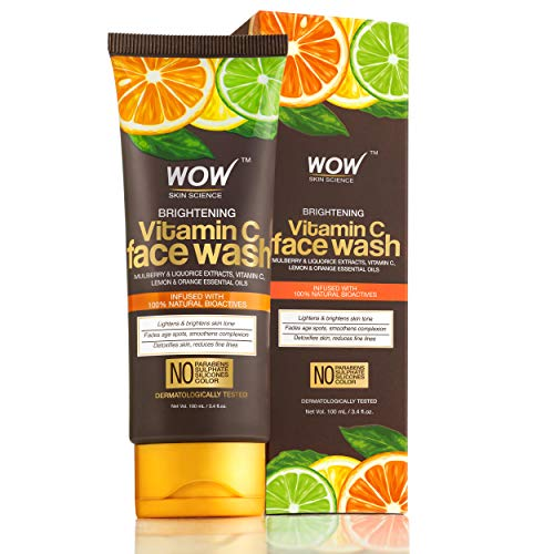 WOW Skin Science Brightening Vitamin C Face Wash - No Parabens, Sulphate,...