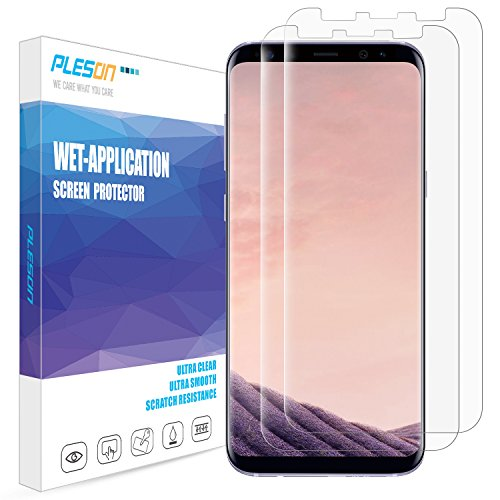 Galaxy S8 Plus Screen Protector, [2-Pack][Full Coverage] PLESON [Case...