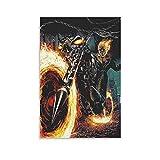 ZMSY Ghost Rider Poster dekorative Malerei Leinwand