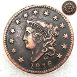 FKaiYin 1816 Antike Liberty One Cent Replik Old Coin, American Lucky Old Coin, US Old Coins, Unzirulated Hobo Nickel USA Morgan Dollar Coin Future Experience -