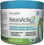 NeuroActiv6 - Caffeine-Free Brain Enhancing Superfood Powder | Raise BDNF Levels, Eliminate Brain Fog, Improve Memory, Boost Focus & Support Mood with Coffee Fruit Extract, Ashwagandha, & Citicoline