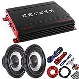 Package: Crunch PX2000.1D 2000W Monoblock Subwoofer Amplifier + 2 SoundXtreme ST-1252 1300W Subwoofer + Amp Kit