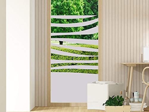 GRAZDesign Fensterfolien Streifen - Glasfolie - Folien für Glastüren - Duschkabinen Badfenster Folie/Motiv: Zebra Streifen / 60x80cm Breite x Höhe