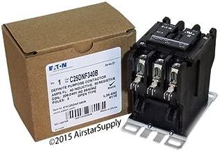 Eaton C25DNF340B Contactor, Definite Purpose, 3P, 40A, 208-240VAC Coil, 600VAC