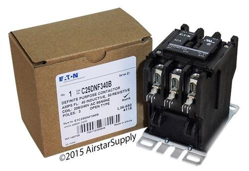 Replacement for Tyco 3100Y30U10999 - Replaced by Eaton/Cutler Hammer C25DNF340B 50mm DP Contactor, 3-Pole, 40 Amp, 240 VAC Coil Voltage